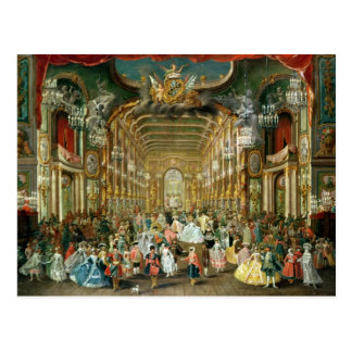 Masked Ball in the Hoftheater, Bonn, 1754 Postcard