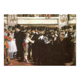 Masked Ball Opera by Manet, New Year's Eve Party 13 Cm X 18 Cm Invitation Card
