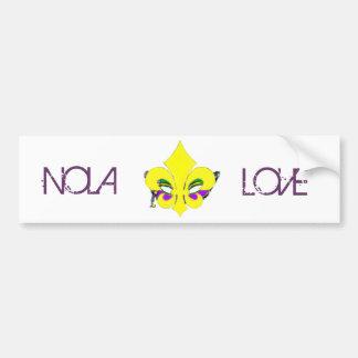 Masked Fleur De Lis Bumper Sticker