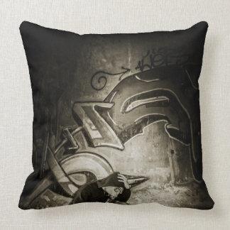 Masked Graffiti Artist Vignette Cushion