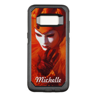 Masked Harlequin With Orange Carnival Costume OtterBox Commuter Samsung Galaxy S8 Case