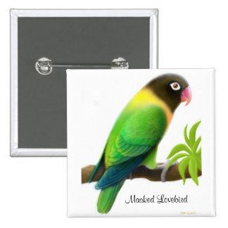 Masked Lovebird Green Pin