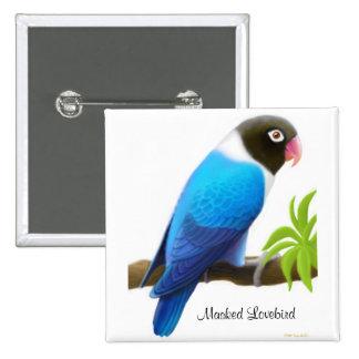 Masked Lovebird Pin