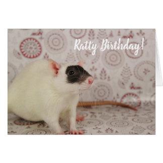 Masked Rat - Ratty Birthday Card