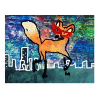 Masked Red Fox Postcard