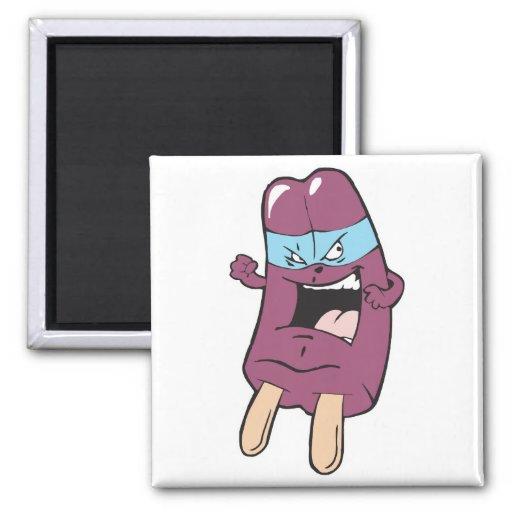 masked super villian hero grape ice pop refrigerator magnet