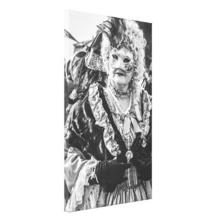 Masked woman during the Venice carnival Canvas Print
