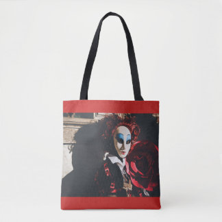 Masked woman in Venice carnival Tote Bag