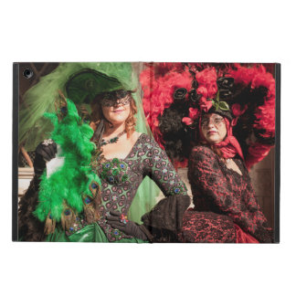 Masked women during the Venice carnival iPad Air Cover