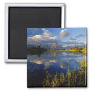 Maskinonge Lake in Waterton Lakes National Park Square Magnet