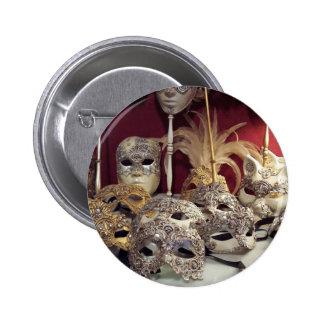 masks 6 cm round badge