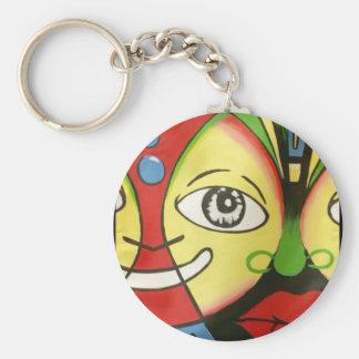 Masks Banner Basic Round Button Key Ring