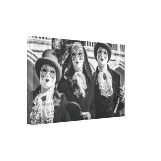 Masks during the Venice carnival Canvas Print