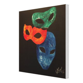 """Masks we take off"" Original Abstract Painting Canvas Print"