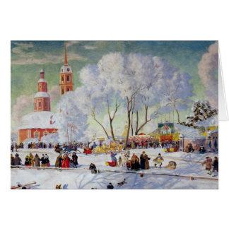 Maslanitsa -Butter Week Winter Holiday Card
