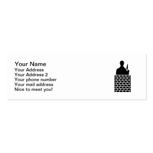 Mason brick layer business cards