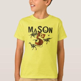 Mason Dinosaur Birthday Shirt