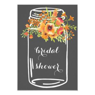 Mason floral rustic bridal shower invitations