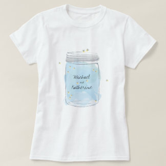 Mason Jar and Fireflies T-Shirt