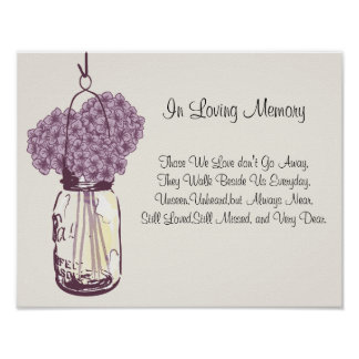 Mason Jar and Hydrangeas Poster