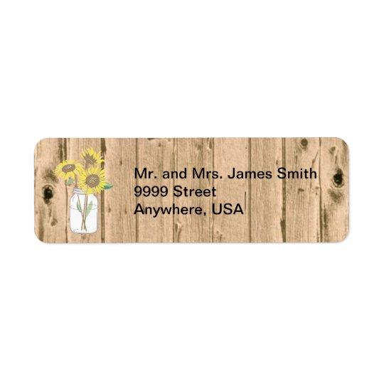 Mason Jar and Wood Mailing Label