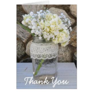 Mason Jar Bouquet Thank You Greeting Card