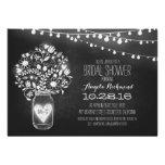 mason jar chalkboard & lights bridal shower