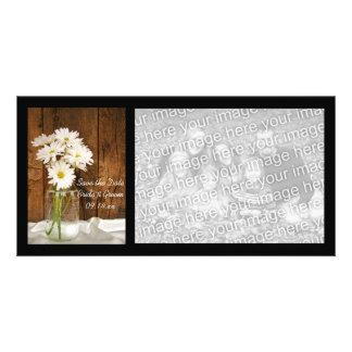 Mason Jar Daisies Country Wedding Save the Date Photo Greeting Card