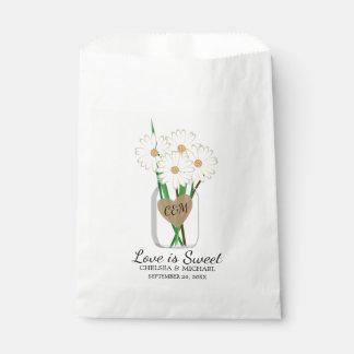 Mason Jar Daisies Favour Bag