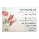 Mason Jar Daisies Wedding Invitations