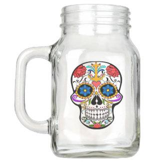 Mason jar drink mug sugar skull