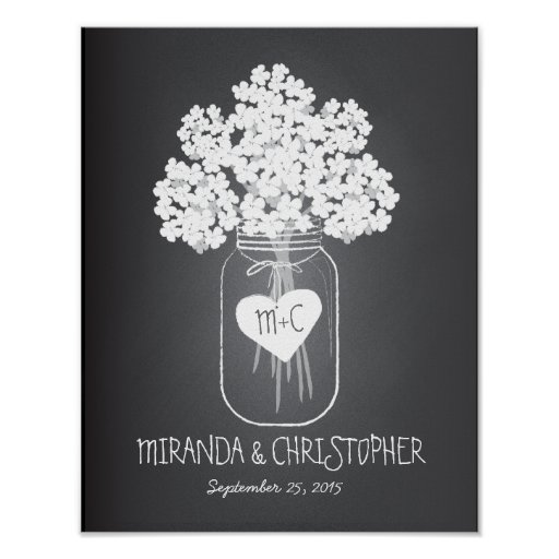 Mason Jar Family Established Marriage Poster