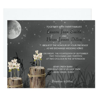 Mason Jar Fireflies Chalkboard, Wedding Invitation