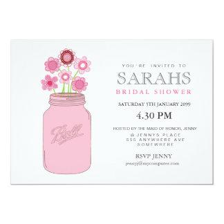 Mason Jar Flowers Bridal Shower Party Invite
