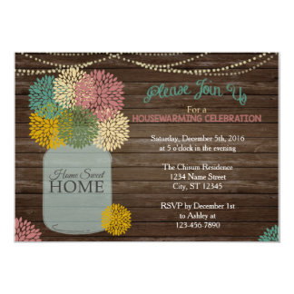 Mason Jar Housewarming Invitation