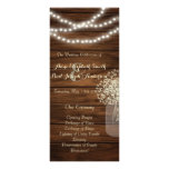 Mason jar lights Wedding Program Rack Card Template