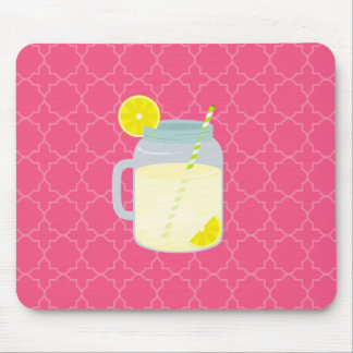 Mason Jar Of Lemonade Quatrefoil Mouse Pad