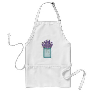 Mason Jar Of Violets Apron