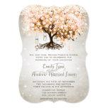 Mason Jar Peachy Pink Heart Leaf Tree Wedding