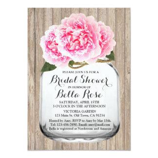 Mason jar pink peony bridal shower invite peony2