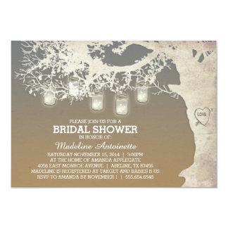 Mason Jar String Light Bridal Shower Sunset 13 Cm X 18 Cm Invitation Card