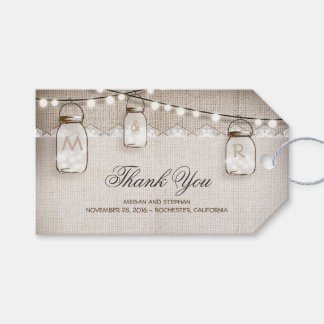 Mason Jar String Lights Burlap Wedding