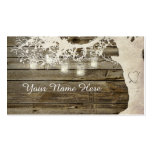 Mason Jar String Lights Rustic Tree Place Card Business Card Template