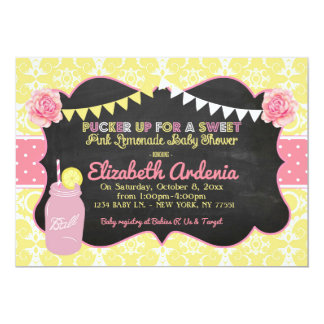 Mason Jar Sweet Lemonade Baby Shower Invitation