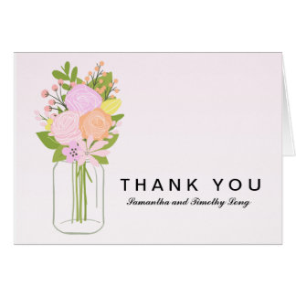 Mason Jar Thank You | Wedding Card