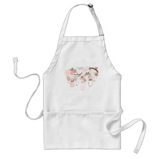 Mason Jar Tree & Flowers Apron