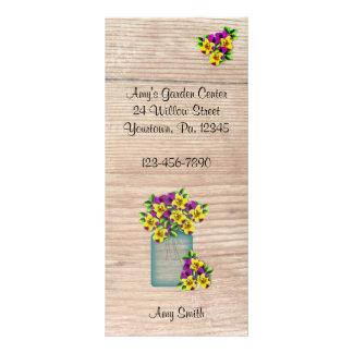 Mason Jar Violas Rack Card