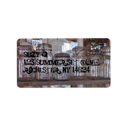 Mason Jars - Address Labels