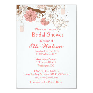 Mason Jars Bridal Shower, Baby Shower Invitations