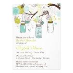 Mason Jars Spring Floral Bridal Shower Invitaiton Custom Invitations